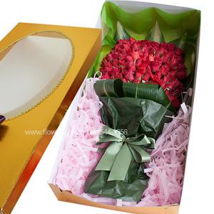 [장미100송이]꽃상자B