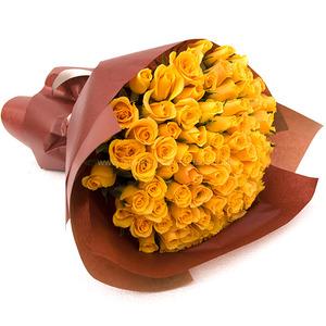 [장미100송이]노란 꽃다발