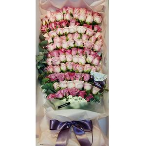 핑크장미100송이 꽃상자